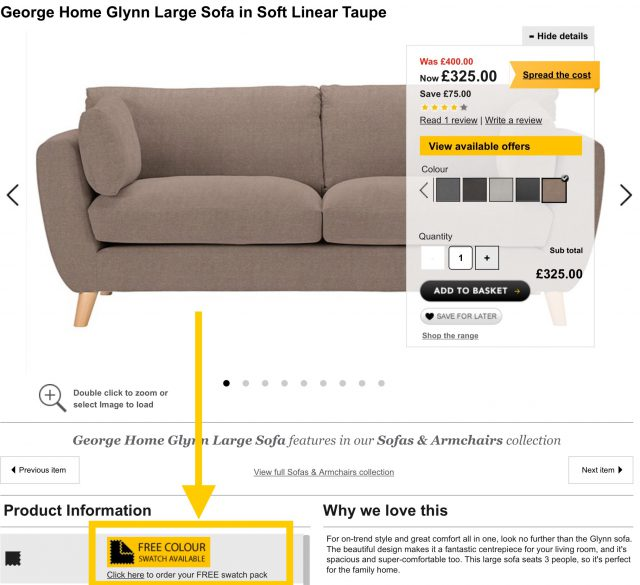 Sofa Product Page